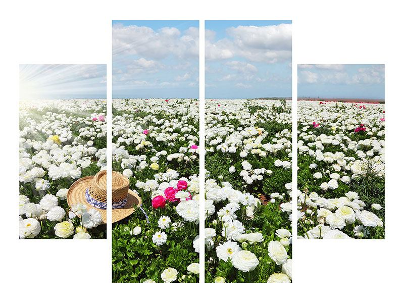 4 Piece Forex Print Spring Flower Meadow