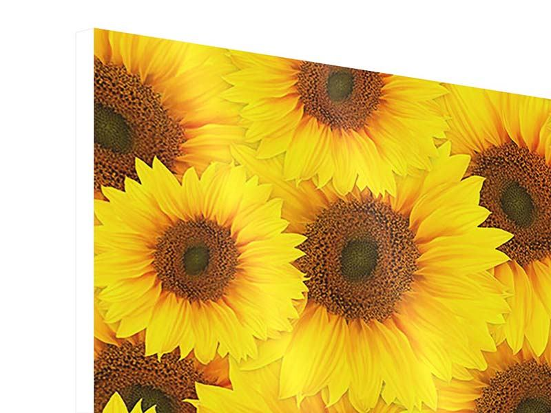 4 Piece Forex Print A Bouquet Sunflower