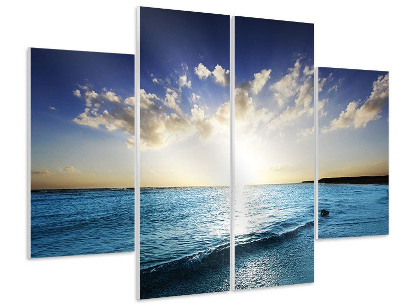 4 Piece Forex Print The Sea At Sunrise