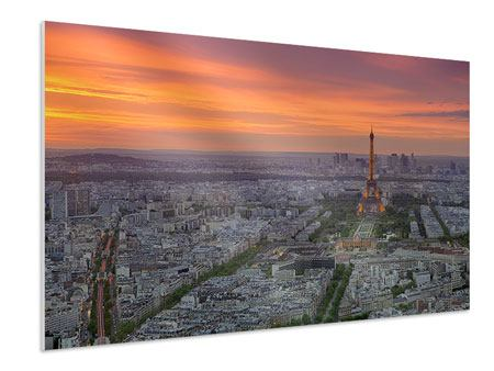 Forex Print Paris Skyline At Sunset