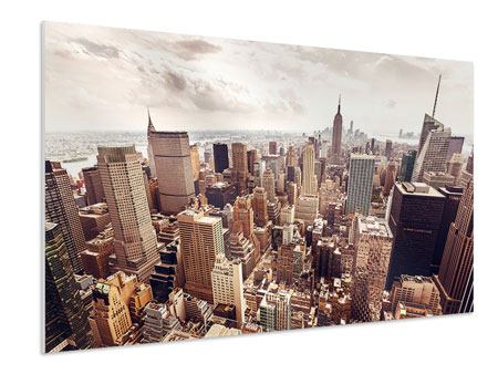 Forex Print Skyline Over The Roofs Of Manhattan