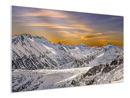 Forex Print Sunset In The Mountains