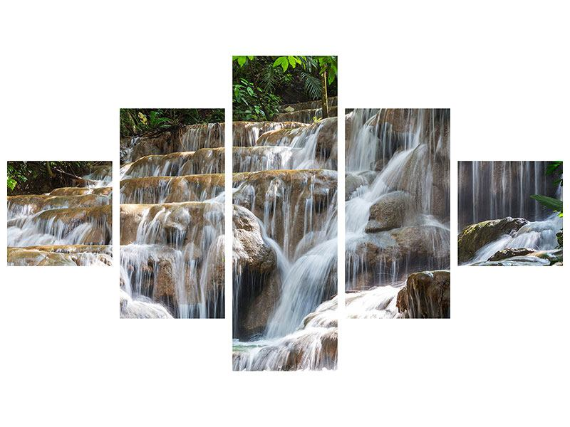 5 Piece Forex Print Mexican Waterfall