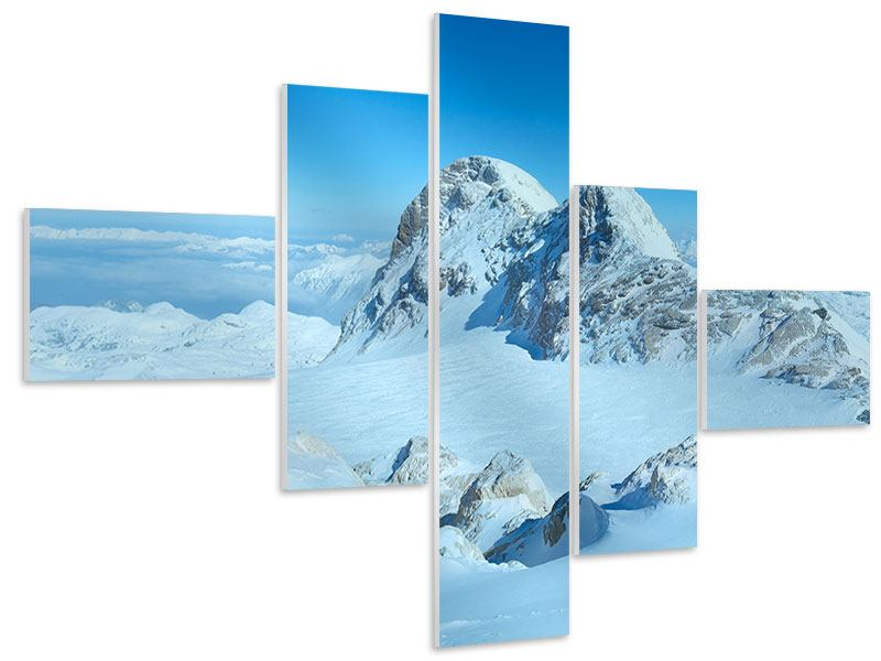 Modern 5 Piece Forex Print Above The Clouds