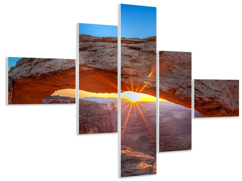 Modern 5 Piece Forex Print Sunset At Mesa Arch