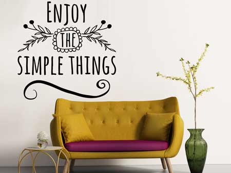 Wall Sticker Enjoy the simple things