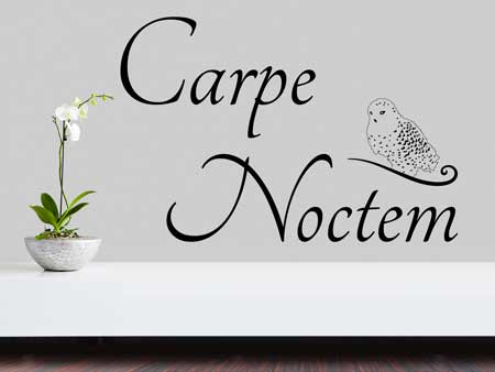 Sticker muraux Carpe Noctem