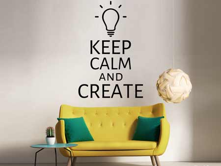 Wall Sticker Mantenga la calma y crear