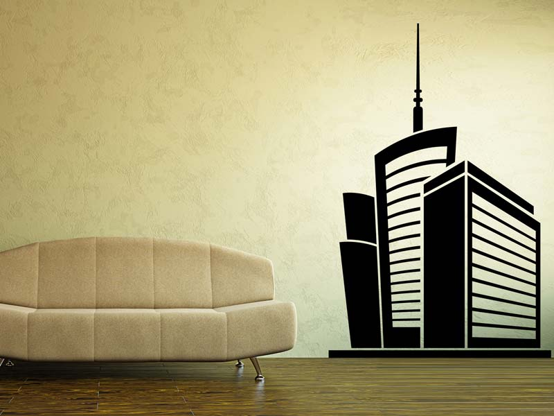 Wall Sticker modern skyscrapers