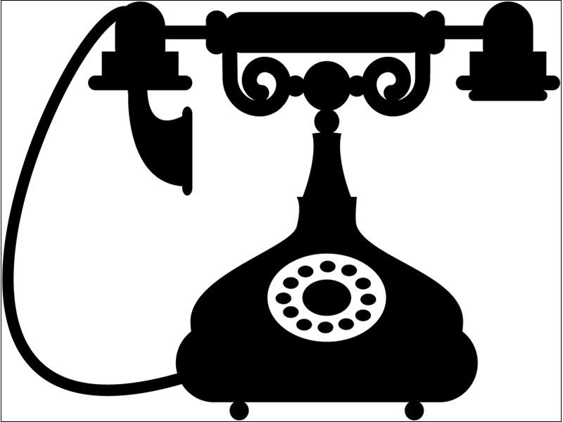 Wall Sticker antique telephone