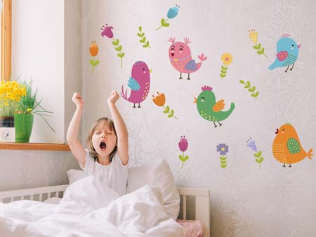 Wall Sticker funny birds