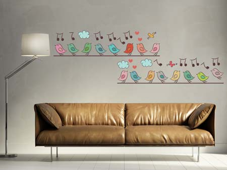 Wall Sticker musical birds