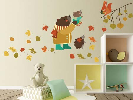 Wall Sticker Cute Animal Friendship