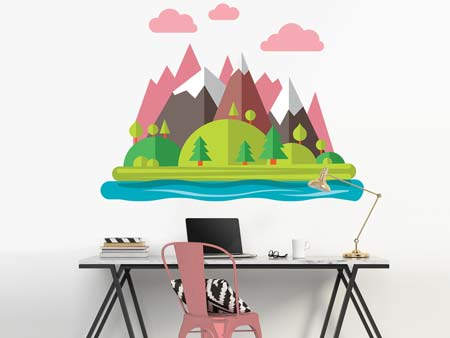 Wall Sticker fantasy landscape
