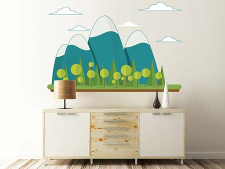Wall Sticker giant mountains