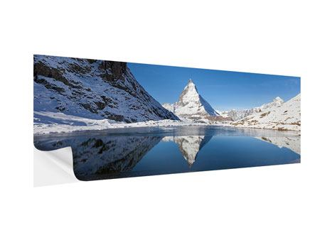 Poster autoadesivo Panoramica Il Riffelsee sul Matterhorn
