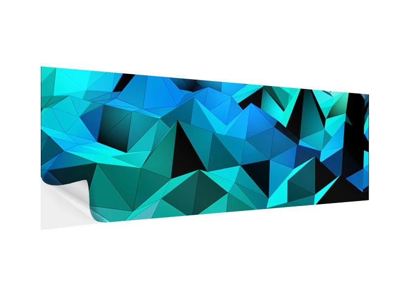 Panoramic Self-Adhesive Poster 3D Diamonds