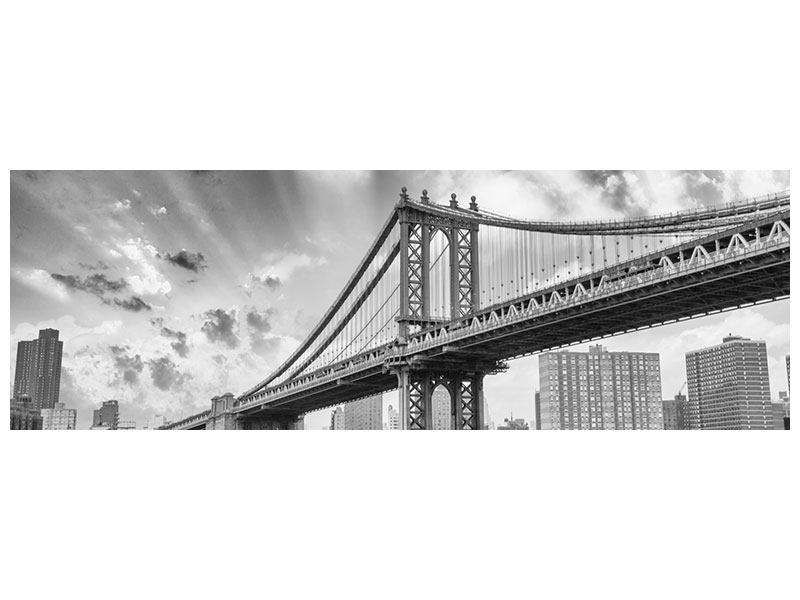 Panoramic Self-Adhesive Poster Manhattan Bridge