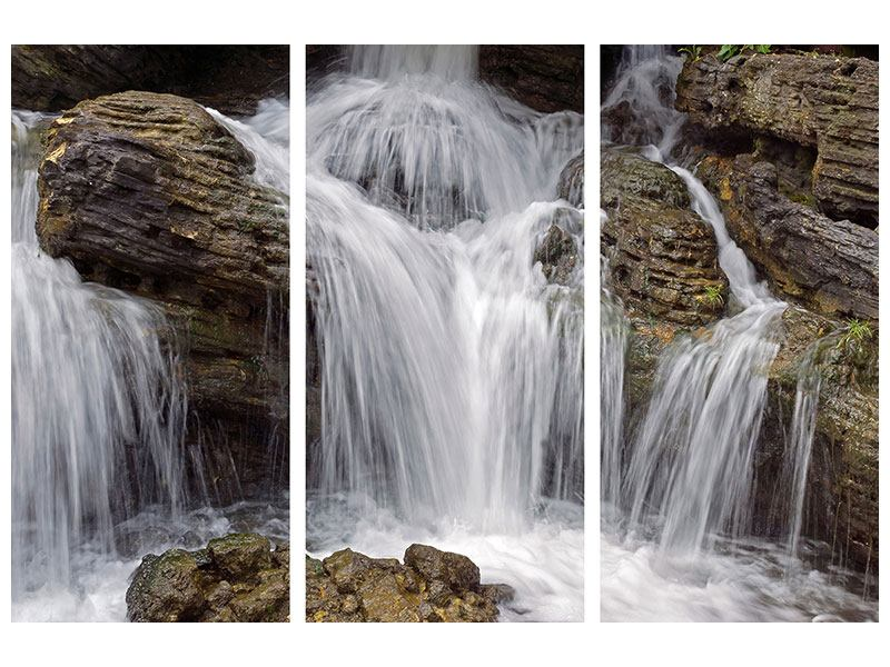 3 Piece Self-Adhesive Poster Waterfall XXL