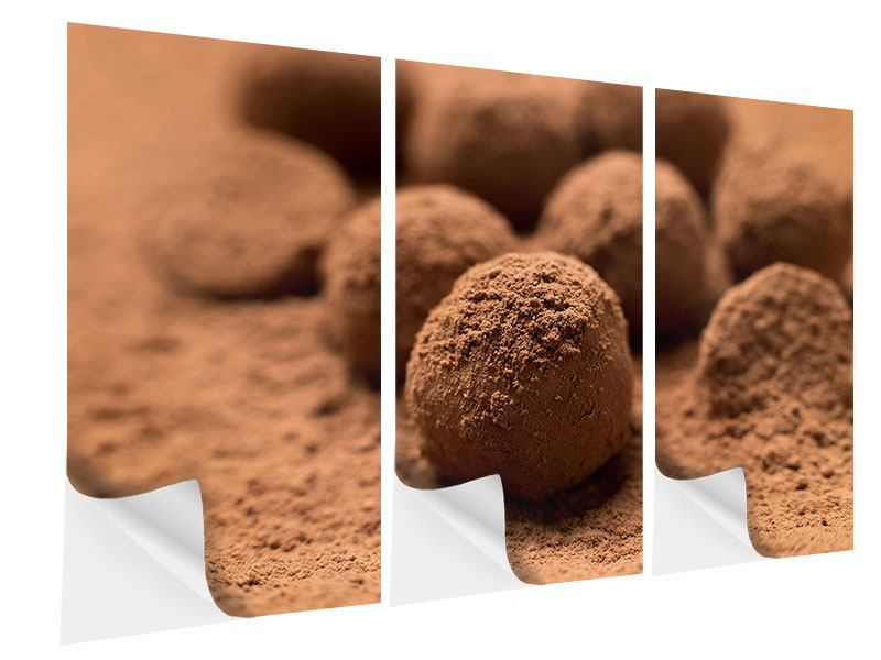 3 Piece Self-Adhesive Poster Chocolate Truffles