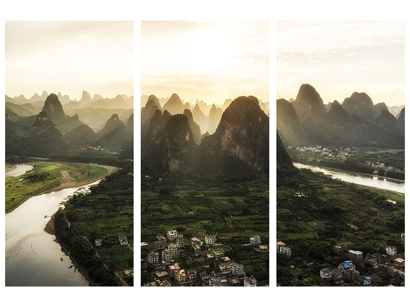 3 Piece Self-Adhesive Poster The Mountains Of Xingping