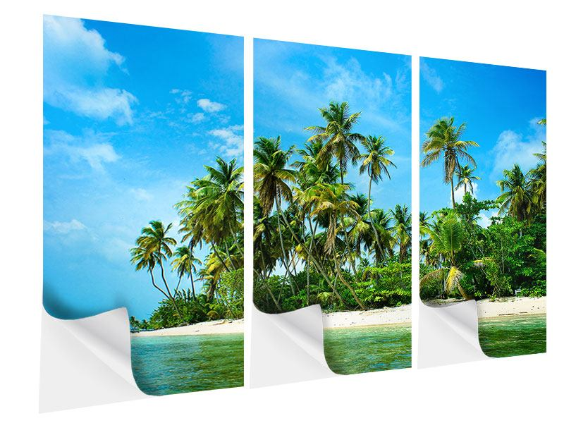 3 Piece Self-Adhesive Poster Ready For Holiday Island