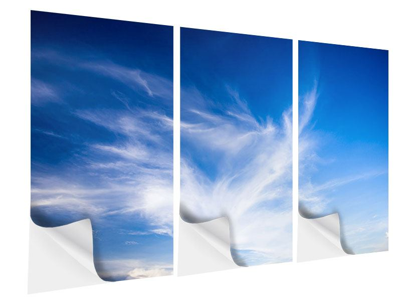 3 Piece Self-Adhesive Poster Cirrostratus Clouds
