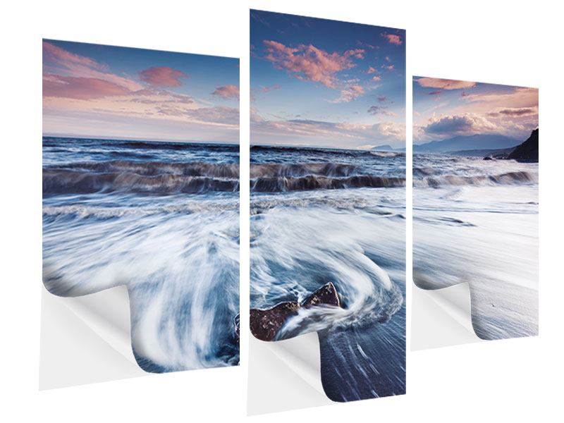 Modern 3 Piece Self-Adhesive Poster Place of Longine