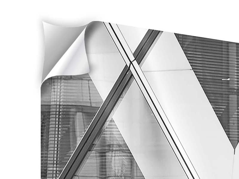 Modern 4 Piece Self-Adhesive Poster Part Of A Skyscraper