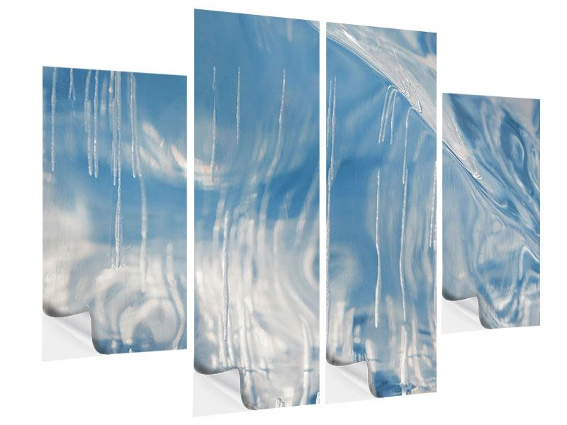 4 Piece Self-Adhesive Poster The Ice Of Lake Baikal