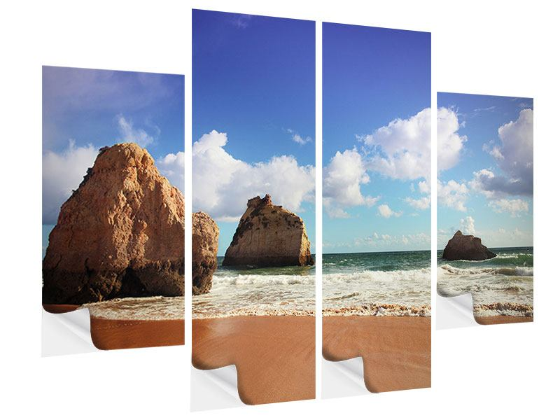 4 Piece Self-Adhesive Poster Beach Thoughts
