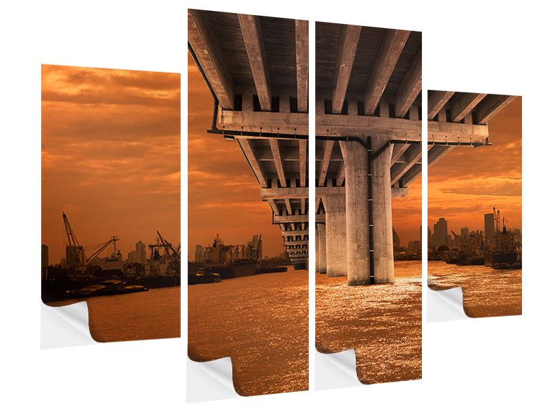 4 Piece Self-Adhesive Poster The Bridge