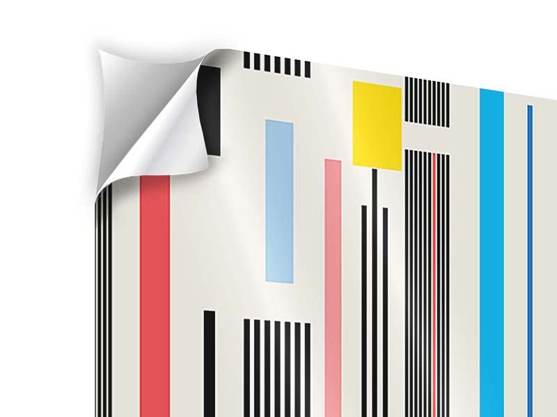 4 Piece Self-Adhesive Poster Graphic Stripes