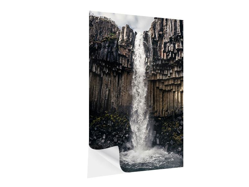 Self-Adhesive Poster Waterfall Iceland