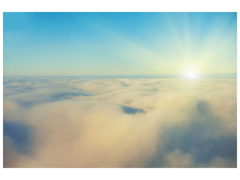 Self-Adhesive Poster Photo Wallaper Dawn Above The Clouds