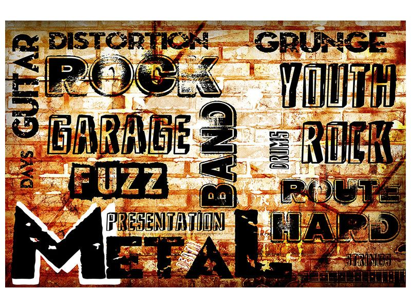 Self-Adhesive Poster Rock In Grunge Style