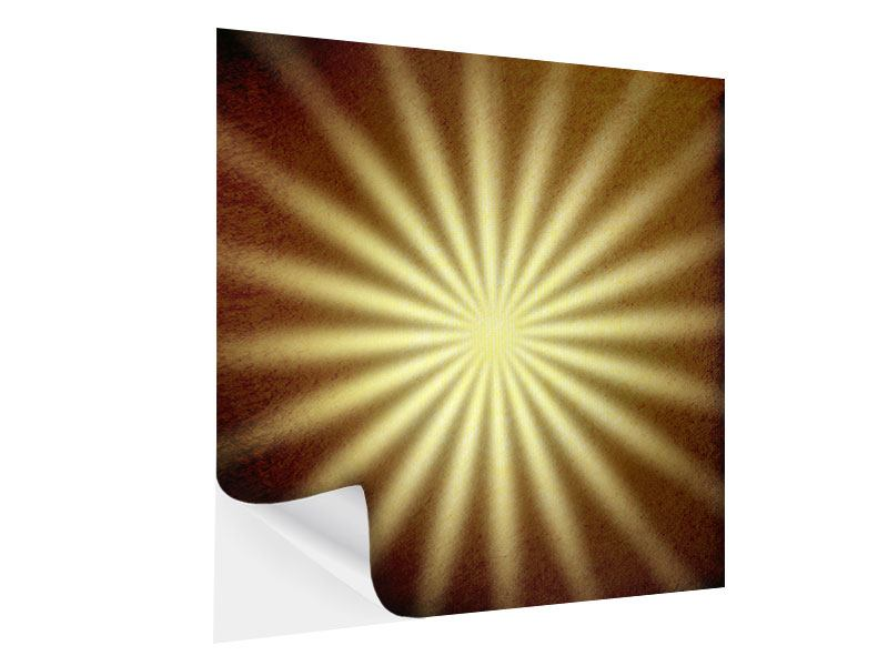 Self-Adhesive Poster Abstract Sunbeams