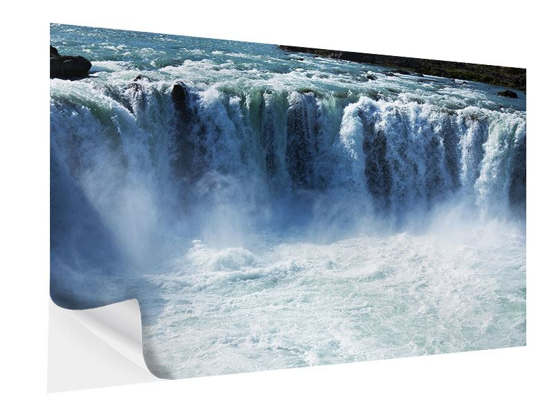 Self-Adhesive Poster Mighty Waterfall