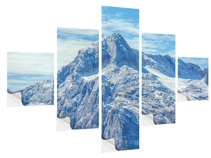 5 Piece Self-Adhesive Poster Peaceful Mountain Atmosphere