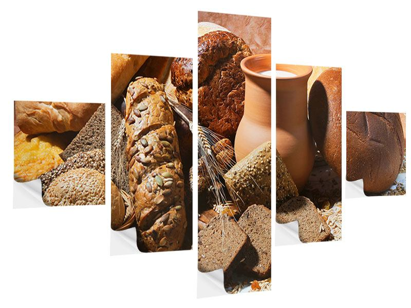 5 Piece Self-Adhesive Poster Breakfast Breads