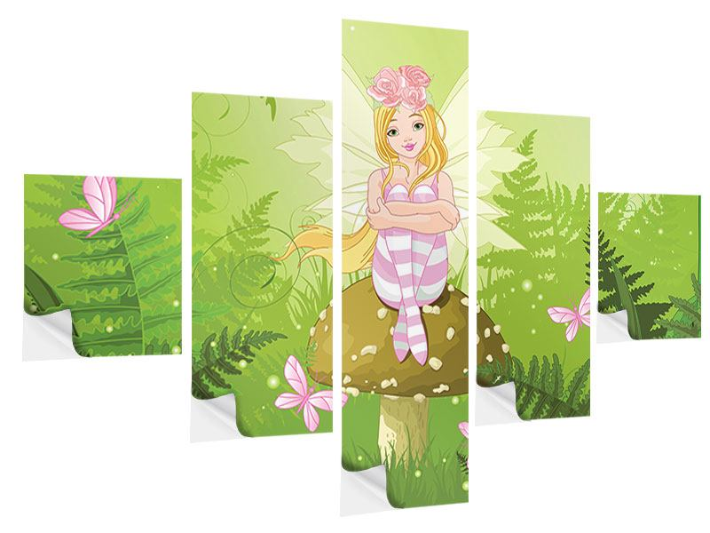 5 Piece Self-Adhesive Poster The Good Fairy