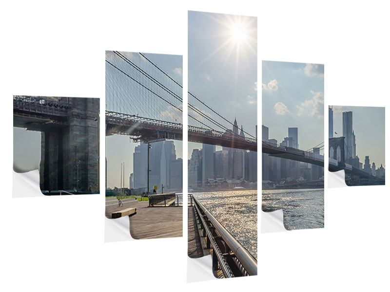 Klebeposter 5-teilig Brooklyn Bridge