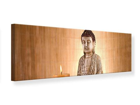 Panoramic Canvas Print Buddha In Meditation
