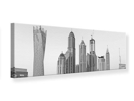 Panoramic Canvas Print Majestic Skyscrapers In Dubai