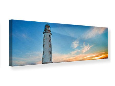Panoramic Canvas Print Sunset At The Lighthouse