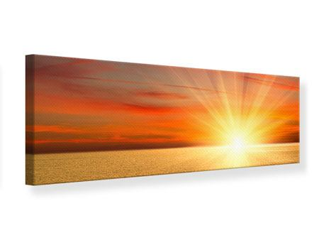 Panoramic Canvas Print The Sunset