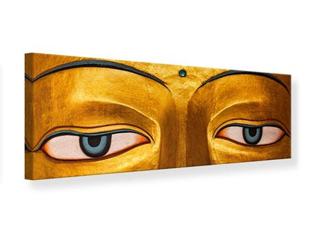 Panoramic Canvas Print The Eyes Of Buddha