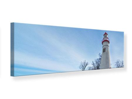 Panoramic Canvas Print Lighthouse In Snow