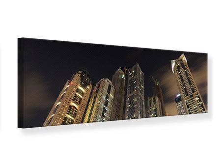 Panoramic Canvas Print Skyscrapers Dubai Marina