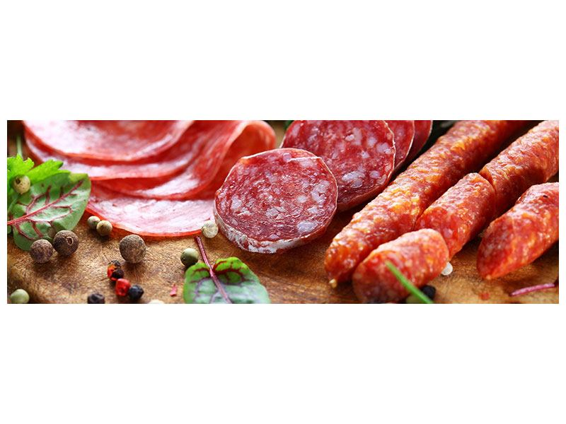 Panoramic Canvas Print Sausage Buffet